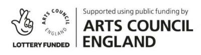Arts Council England logo - Supported using public funding
