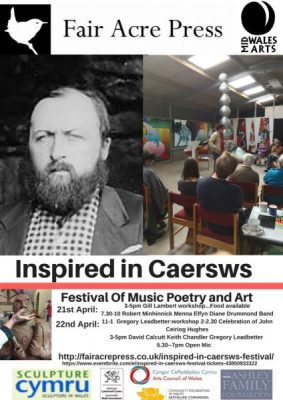 A poster advertising the festival that is called Inspired in Caersws