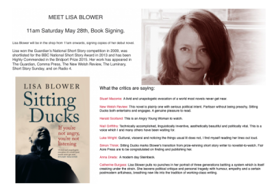 Lisa Blower Sitting Ducks at Linghams Bookshop 1